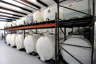 Mineral water storage tanks